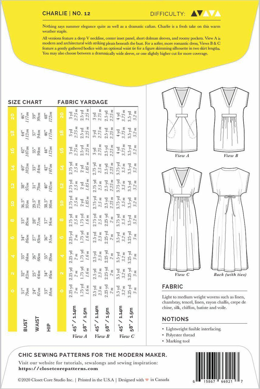 Charlie Caftan Pattern By Closet Core-Little Miss Sew n Sew