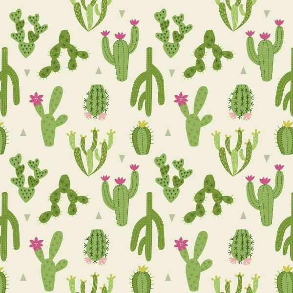 Lewis & Irene - Jersey Knits - Green Cactus-Little Miss Sew n Sew