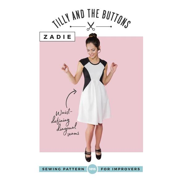Tilly and the Buttons - Zadie Dress-Little Miss Sew n Sew