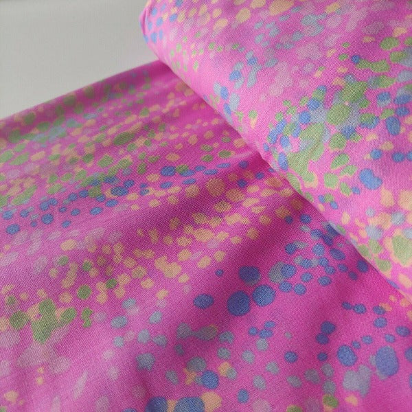 Lady McElroy - Sea Bubbles - Carnation Pink - 100% Cotton 'Marlie' Lawn Digital Print-Little Miss Sew n Sew