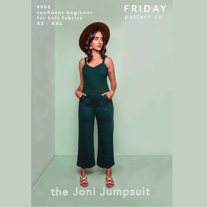 Friday Pattern Co. - Joni Jumpsuit Printed Pattern-Little Miss Sew n Sew