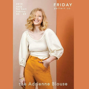 Friday Pattern Co. - Adrienne Blouse Printed Pattern-Little Miss Sew n Sew