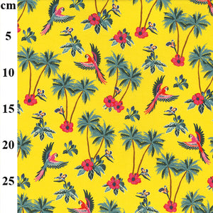 Cotton Spandex Jersey Print - Yellow-Little Miss Sew n Sew