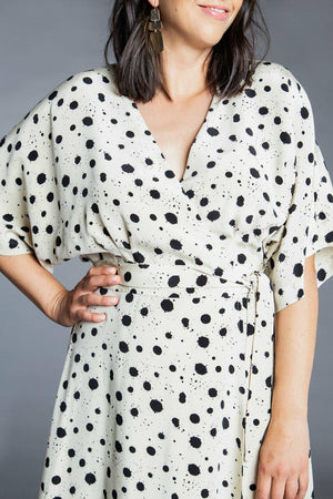 Elodie Wrap Dress Pattern By Closet Core-Little Miss Sew n Sew
