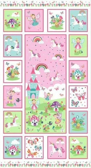 Makower UK -Daydream panel-Little Miss Sew n Sew