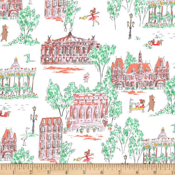 Michael Miller Fabric - Lola dutch parade around town-Little Miss Sew n Sew