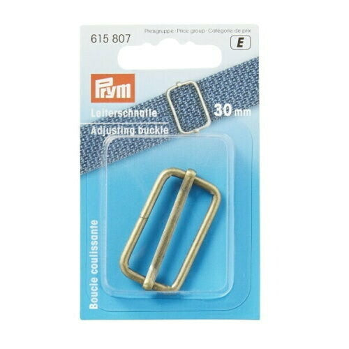 Prym Adjusting buckle, 30mm, antique brass-Little Miss Sew n Sew