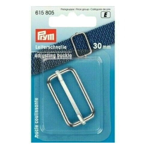 Prym Adjusting buckle, 30mm, silver-Little Miss Sew n Sew