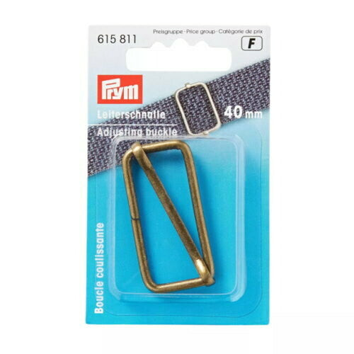 Prym Adjusting buckle, 40mm, antique brass-Little Miss Sew n Sew