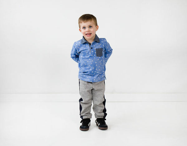 Oliver + S -parachute polo + sweatpants sewing pattern size small 6m-4t-Little Miss Sew n Sew