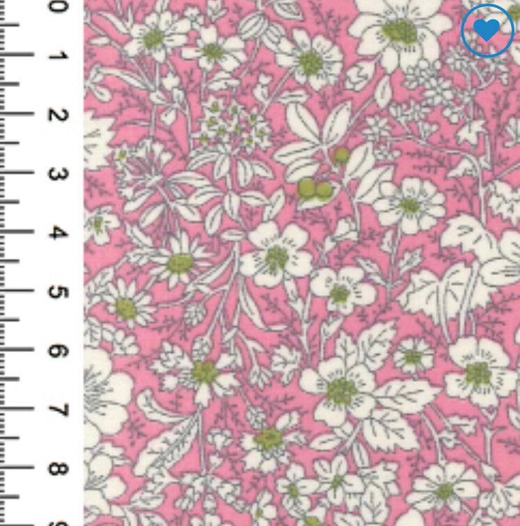 100% Cotton Poplin Print - Pink-Little Miss Sew n Sew