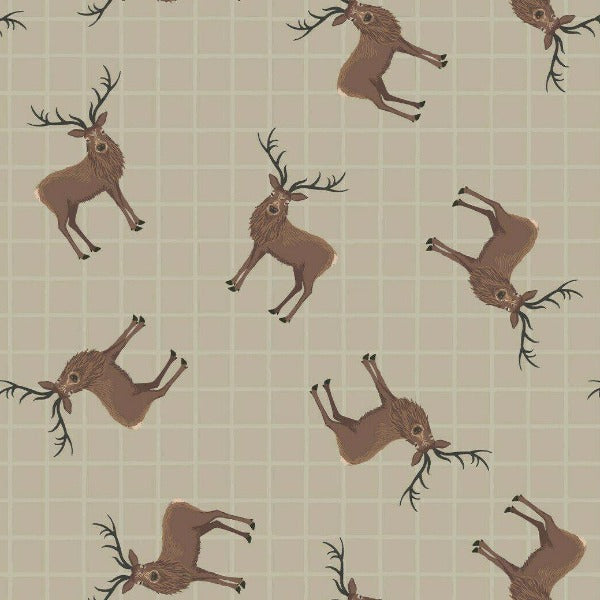 Lewis & Irene - Celtic Coorie - Stag on Dark Natural-Little Miss Sew n Sew
