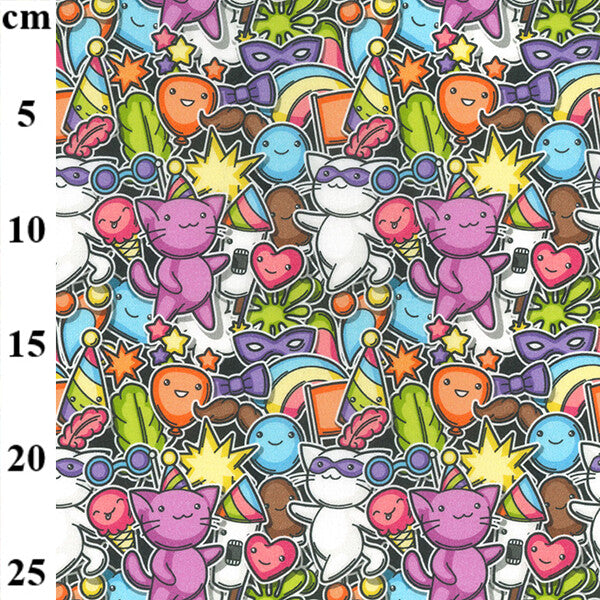 100% Cotton Print - Party 150cm-Little Miss Sew n Sew