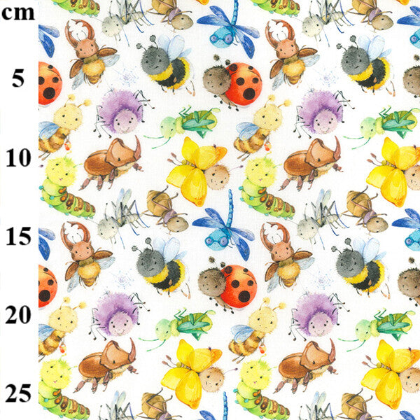 100% Cotton Print - Bugs 150cm-Little Miss Sew n Sew