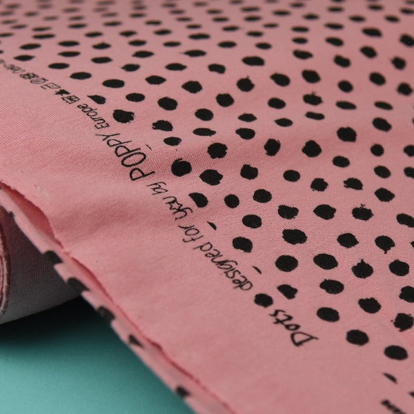 Organic Cotton Jersey - Dots - Rose