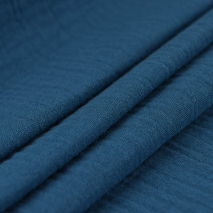 Organic Cotton Double Gauze - French Navy