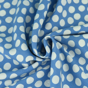 Blue and White Spot Rayon Print from Mistral