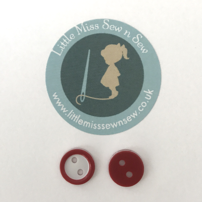 10 x 11mm Small Red Buttons-Little Miss Sew n Sew