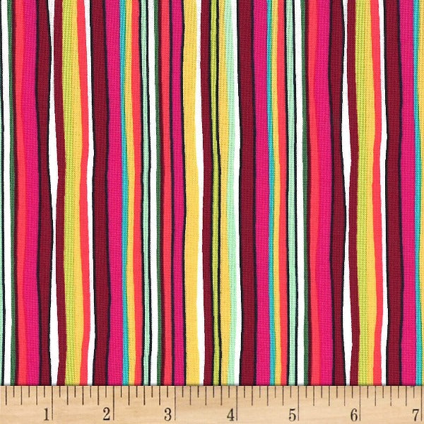 Michael Miller Fabric - Straight path berry-Little Miss Sew n Sew