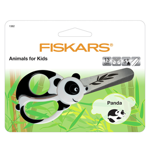 Fiskars; animals for kids panda 13cm scissors-Little Miss Sew n Sew
