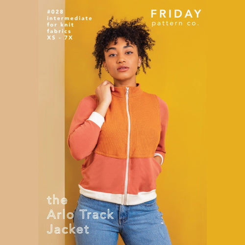 Friday Pattern Co. - The Arlo Track Jacket Printed Pattern-Little Miss Sew n Sew