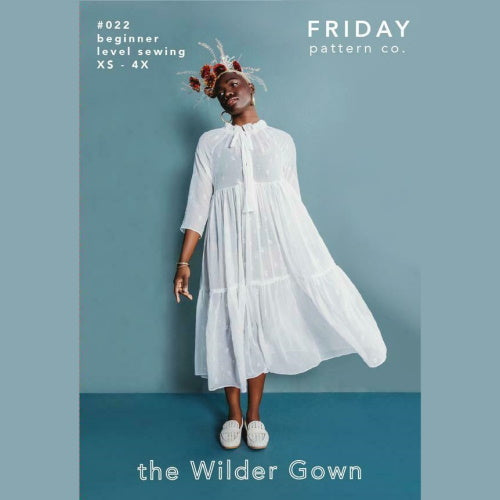 Friday Pattern Co. - The Wilder Gown Printed Pattern-Little Miss Sew n Sew