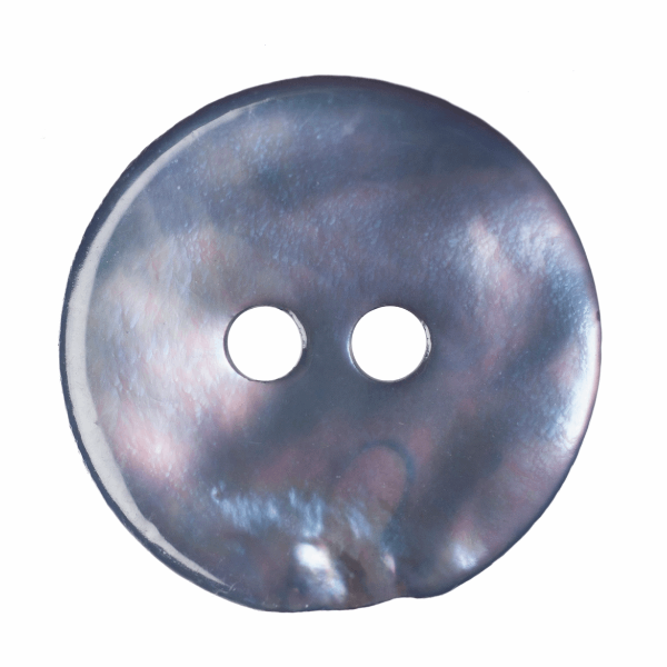 Dyed Agoya Shell Button: 20 lignes/12mm: Pale Blue