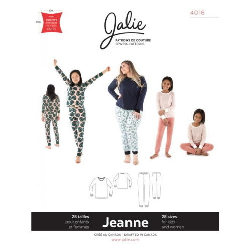 Jalie Sewing Patterns - JEANNE Knit PJ Set-Little Miss Sew n Sew