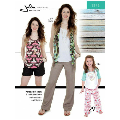 Jalie Sewing Patterns - Pull-On Pants and Shorts-Little Miss Sew n Sew