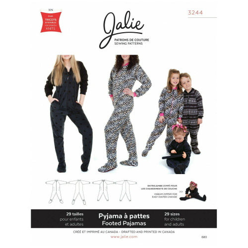 Jalie Sewing Patterns - Footed Pyjamas-Little Miss Sew n Sew