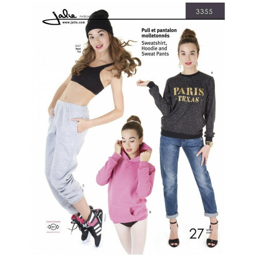 Jalie Sewing Patterns - Sweatshirt and Sweat Pants-Little Miss Sew n Sew