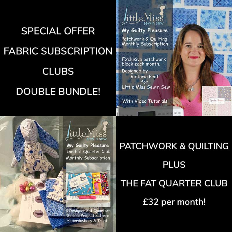 My Guilty Pleasure - The Patchwork and Quilting Club + The Fat Quarter Club Bundle