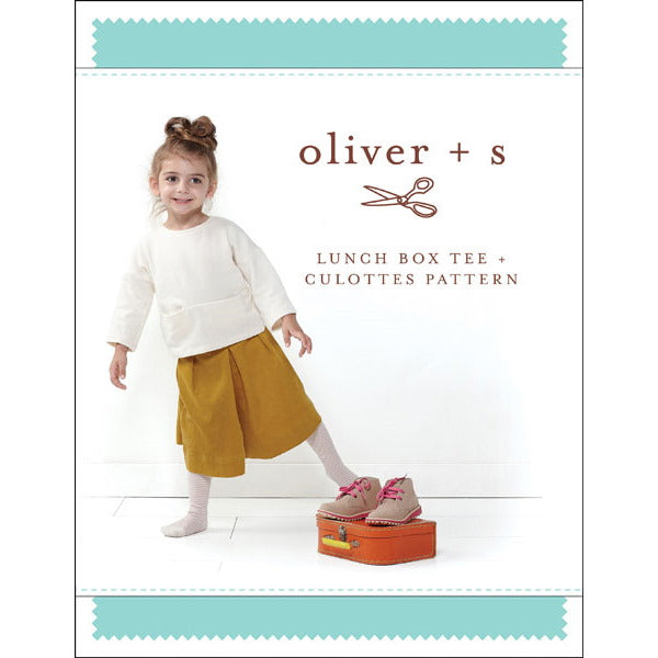 Oliver + S - lunch box tee + culottes sewing pattern small 6m-4t