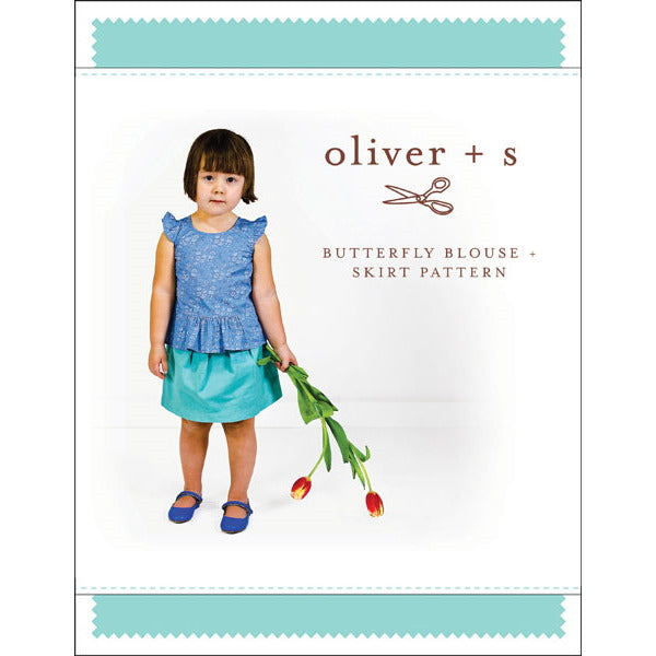 Oliver + S - butterfly blouse + skirt sewing pattern (5 - 12 years)