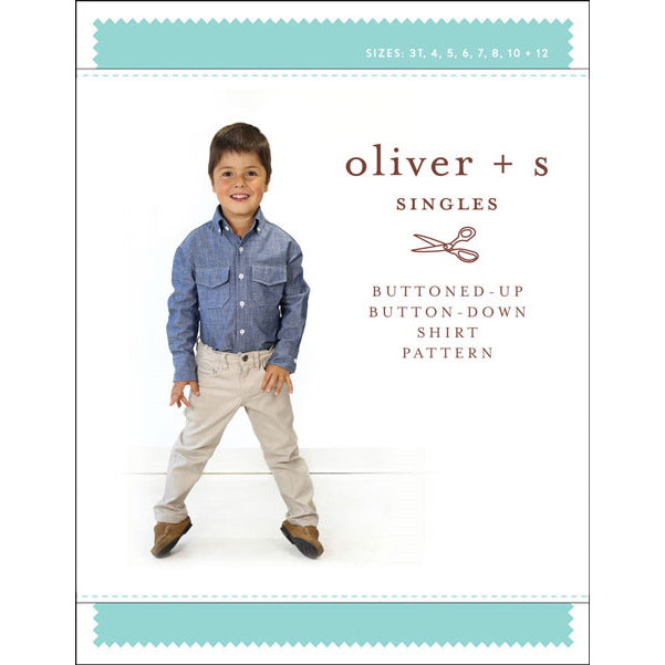 Oliver + S - buttoned-up button-down shirt sewing pattern-Little Miss Sew n Sew