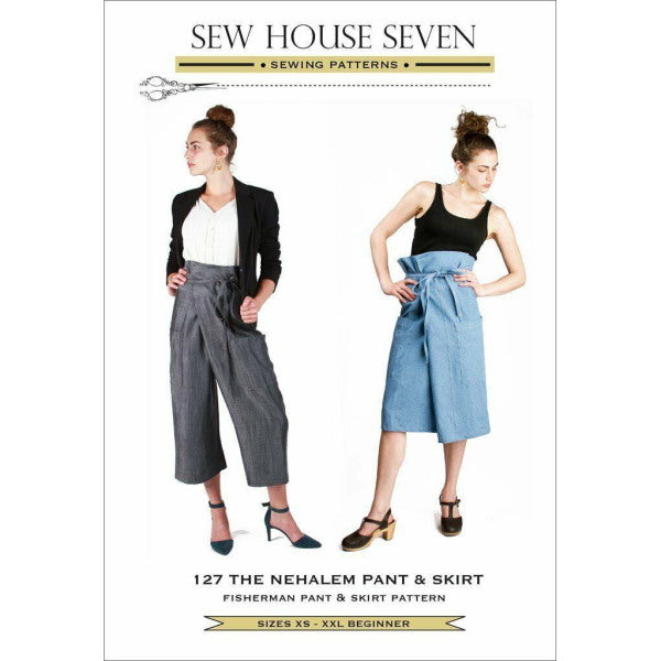 Sew House Seven - The Nehalem Pant And Skirt (Paper Pattern)-Little Miss Sew n Sew