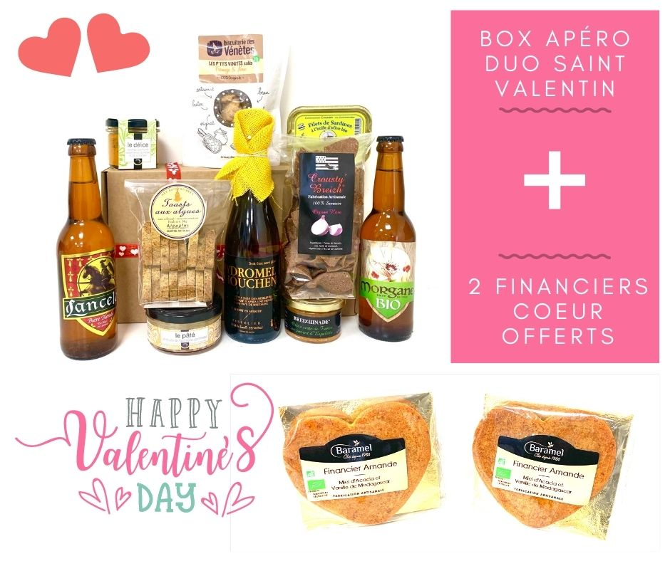 BOX Apéro Duo Saint Valentin + Financiers Coeur OFFERTS