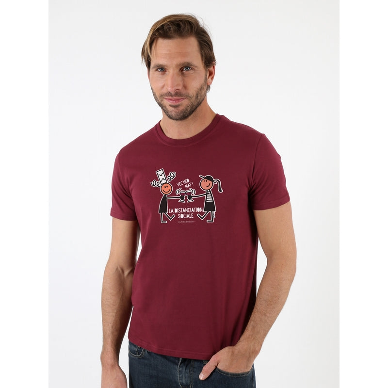 T-Shirt DISTANCIATION Homme -ALAISE BREIZH