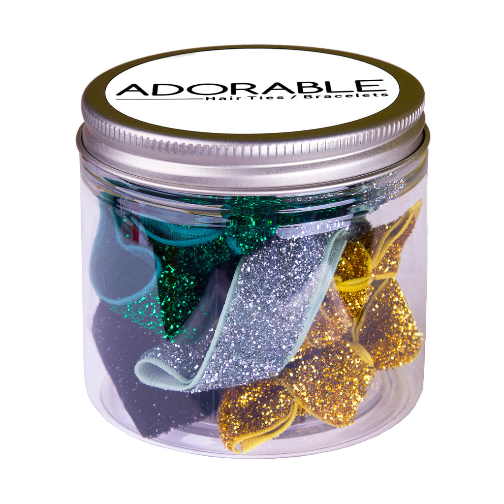 Adorable Gift Tin - Glitter - Adorable Hair Ties