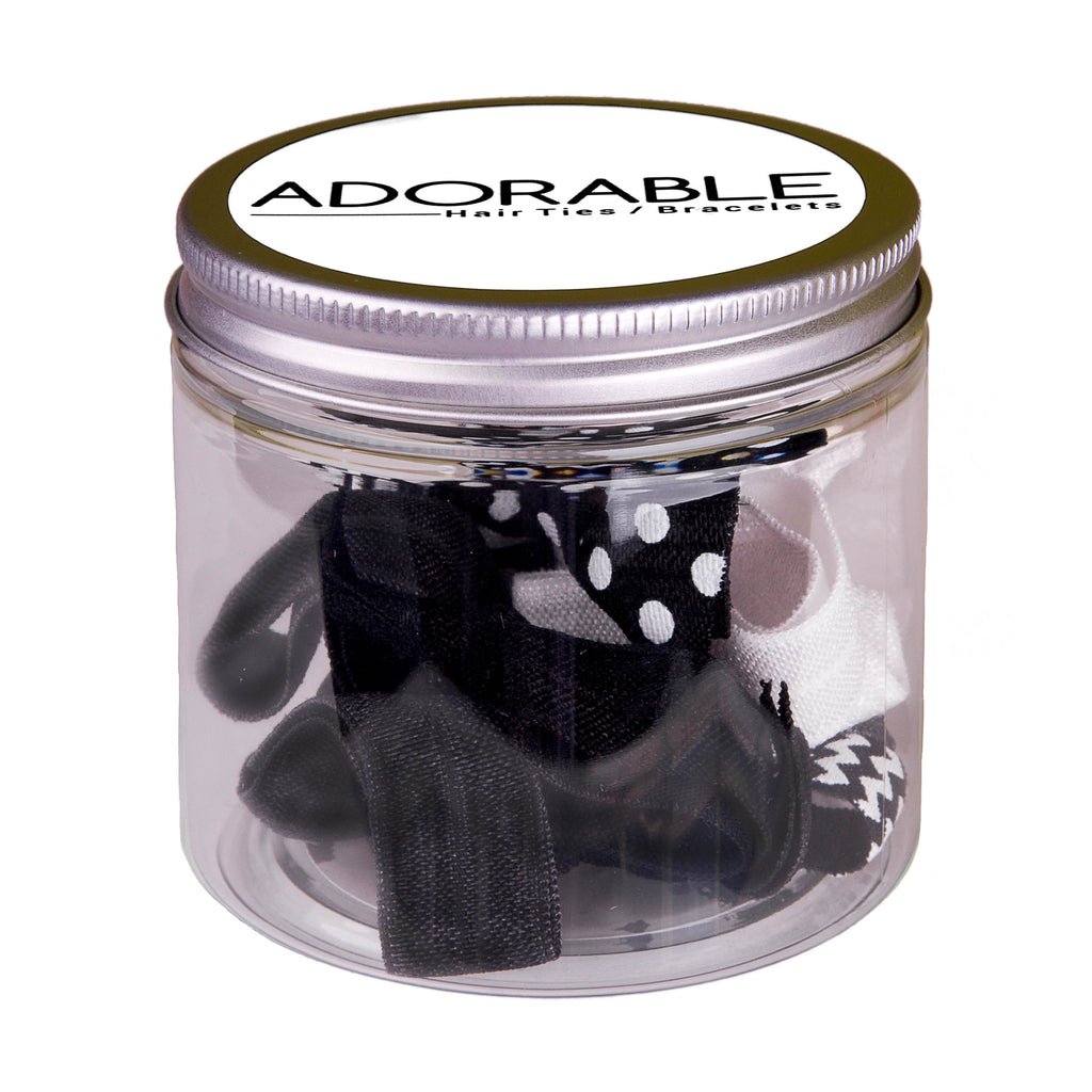 Adorable Gift Tin - Midnight - Adorable Hair Ties
