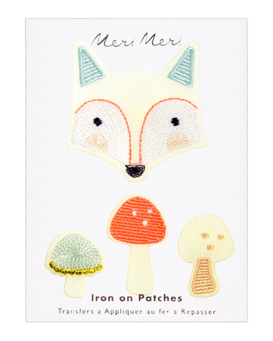 Meri Meri Iron On Patches - Fox - Adorable Hair Ties