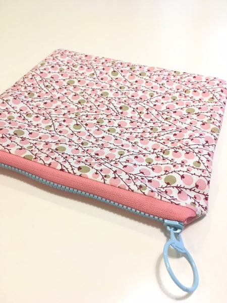 ADORABLE Handmade Zipper Pouch - Cherry Blossom - Adorable Hair Ties