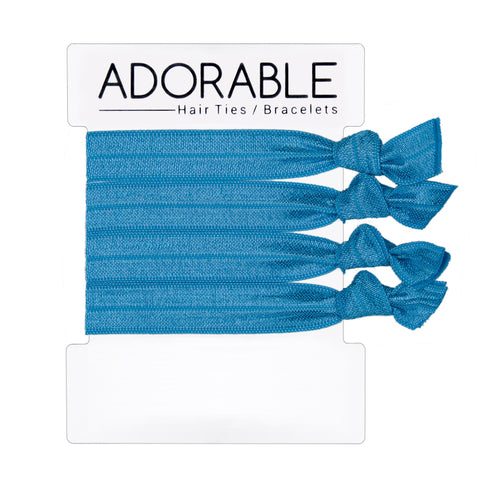Turquoise Hair Ties - Adorable Hair Ties