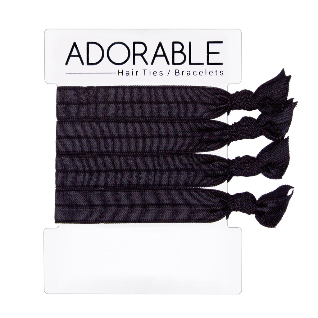 Black Hair Ties - Adorable Hair Ties