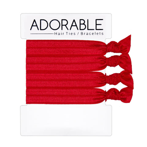 Red Hair Ties - Adorable Hair Ties