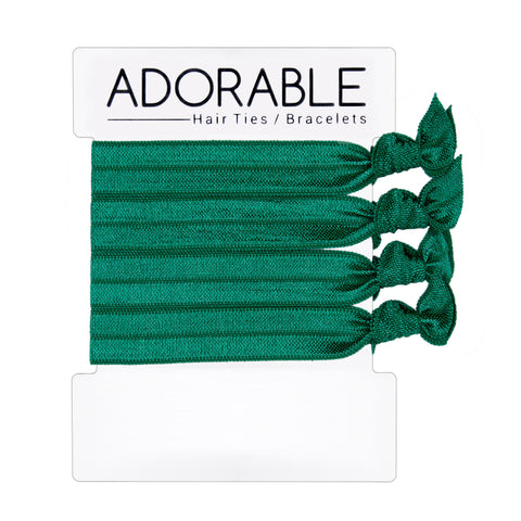 Green Hair Ties - Adorable Hair Ties