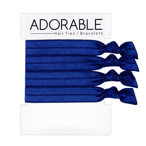 Navy Hair Ties - Adorable Hair Ties
