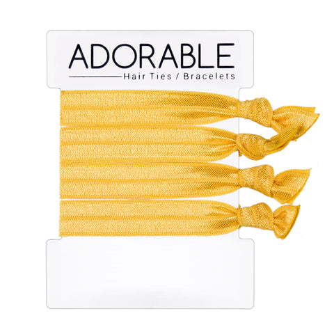 Yellow Hair Ties - Adorable Hair Ties