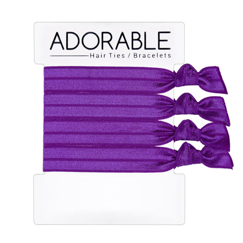Purple Hair Ties - Adorable Hair Ties