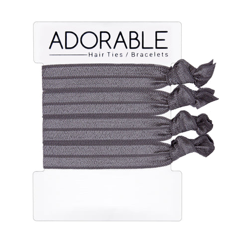 Grey Hair Ties - Adorable Hair Ties